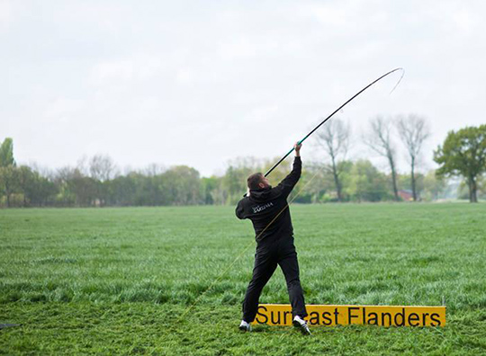 CTS S7 - Dirk Christiansen with the S7 13'6'' 5-8oz and 100 grams - landed at 205 meters