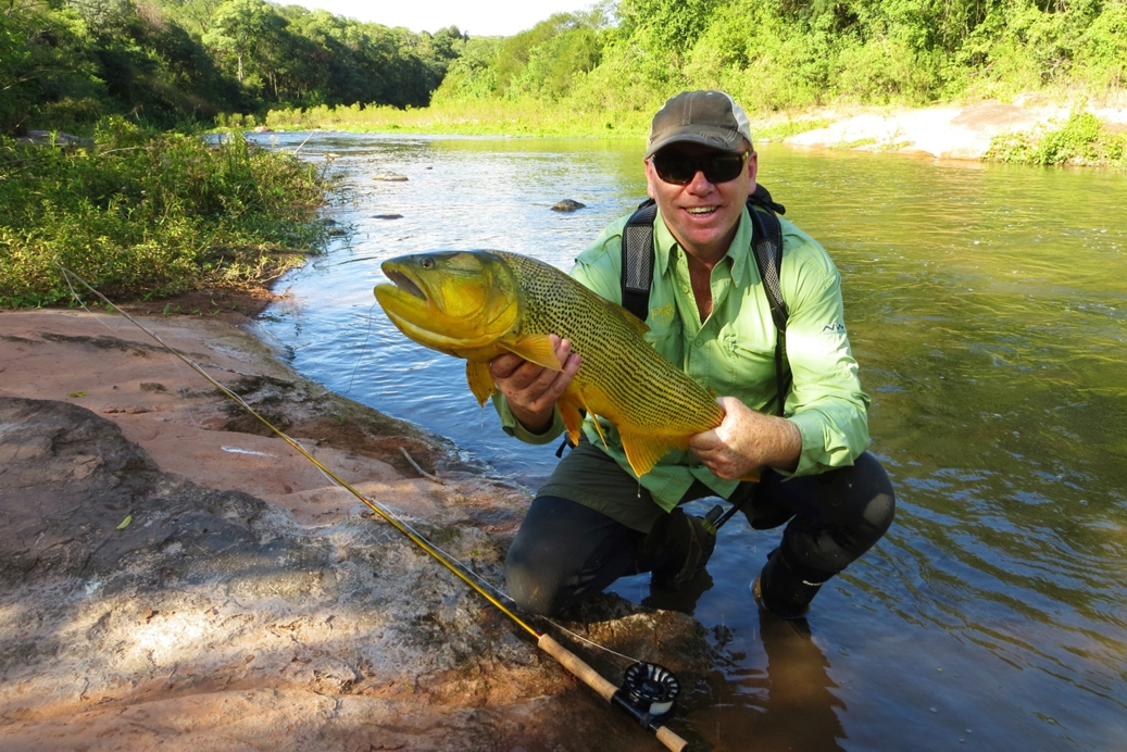 Here is a 8wt Revo in Gold - check out the matching gold silicon carbide guides The fish is a Golden Dorado,The River The Dorado River in Argentina. The Dorado River is located in Northern Argentina near a town called Salta.